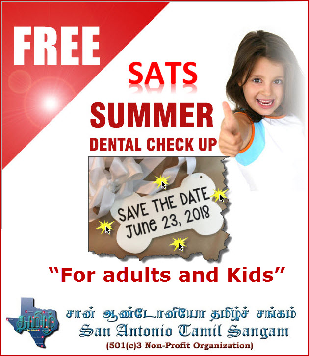 SATS SUMMER DENTAL CHECK UP